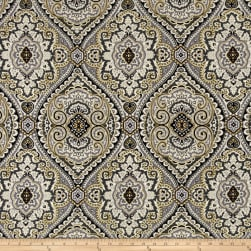 Swavelle/Mill Creek Purana Damask Graphite Linen Fabric