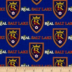 MLS Cotton Broadcloth Salt Lake Real Blue