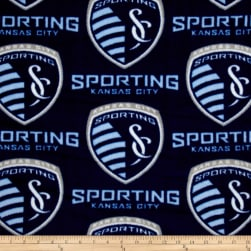 MLS Fleece Sporting Kansas City Blue Fabric