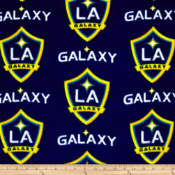 MLS Fleece Los Angeles Galaxy Navy/Yellow Fabric