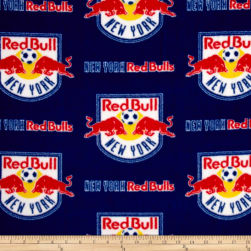 MLS Fleece New York Red Bull Navy/Red Fabric