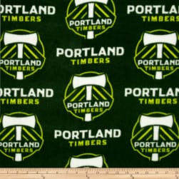 MLS Fleece Portland Timber Green Fabric