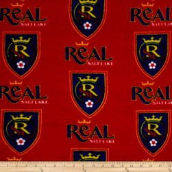 MLS Fleece Salt Lake Real Red Blue Fabric