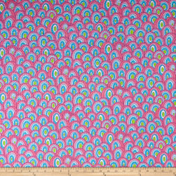 Tutti Fruitti Plisse Geometric Circle Aqua Fabric