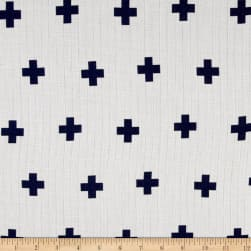 Riley Blake Double Gauze Navy Plus Fabric