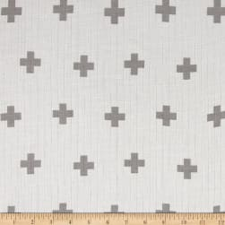 Riley Blake Double Gauze Grey Plus Fabric