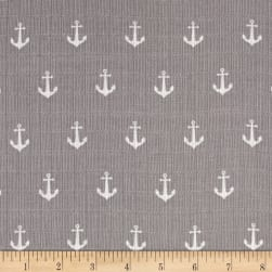 Riley Blake Double Gauze Anchors Gray Fabric