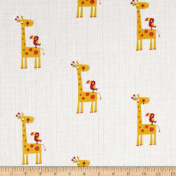 Riley Blake Double Gauze Giraffe Yellow Fabric