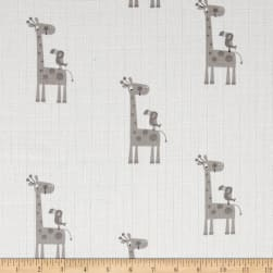 Riley Blake Double Gauze Giraffe Gray Fabric