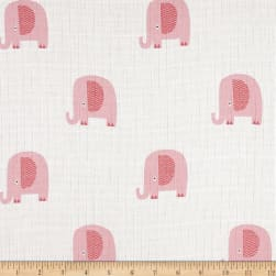 Riley Blake Double Gauze Elephant Pink Fabric