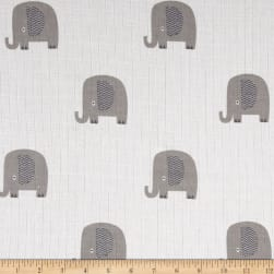 Riley Blake Double Gauze Elephant Gray Fabric