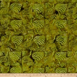 Island Batik Leaves Light Green/Dark Green