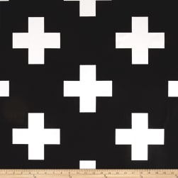 Premier Prints Large Swiss Cross Black/White Fabric