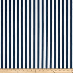 Premier Prints Basic Stripe Premier Navy Twill Fabric