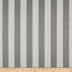 Premier Prints Basic Stripe Twill Snowy Gray Fabric