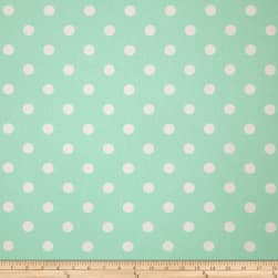 Premier Prints Polka Dot Twill Mint Fabric
