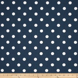 Premier Prints Polka Dot Twill Premier Navy/White Fabric