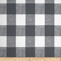 Premier Prints Anderson Check Twill Gunmetal Fabric