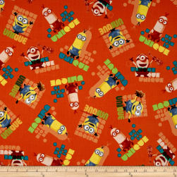 Minions Le Buddies Unique Toss Orange Fabric