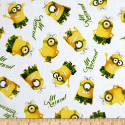 Minions All Natural Minion Toss White Fabric