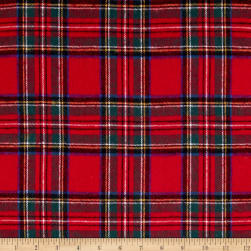 Yarn Dyed Flannel Plaid Red Fabric