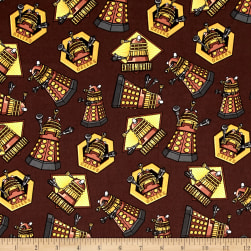 BBC Doctor Who Exterminate Brown Fabric