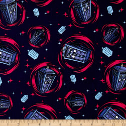 BBC Doctor Who Phone Booth Blue Fabric
