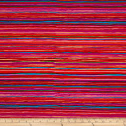 Kaffe Fassett Collective Strata Red Fabric