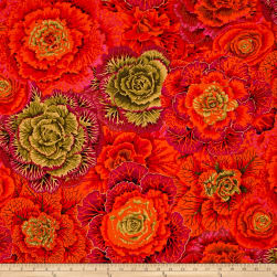 Kaffe Fassett Collective Brassica Rust Fabric