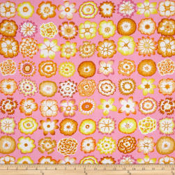 Kaffe Fassett Collective Button Flowers Pink Fabric