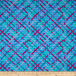 Kaffe Fassett Collective Mad Plaid Turquoise Fabric