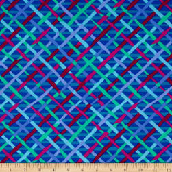 Kaffe Fassett Collective Mad Plaid Cobalt Fabric