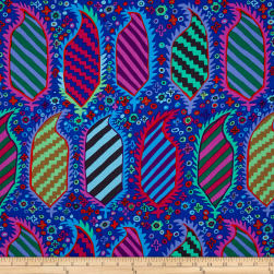 Kaffe Fassett Collective Striped Herald Blue Fabric