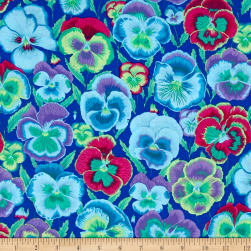 Kaffe Fassett Collective Pansies Blue Fabric
