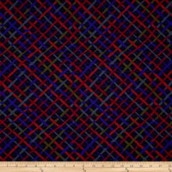 Kaffe Fassett Collective Mad Plaid Charcoal Fabric