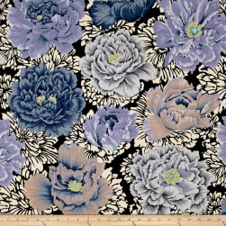 Kaffe Fassett Collective Brocade Peony Grey Fabric