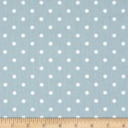 Premier Prints Mini Dots Twill Weathered Blue/White Fabric