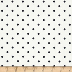 Premier Prints Mini Dots Twill White/Blue Fabric