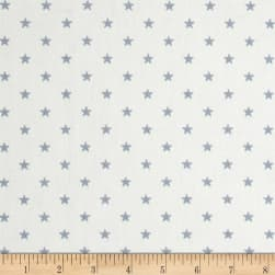 Premier Prints Mini Stars Twill White/Weathered Blue