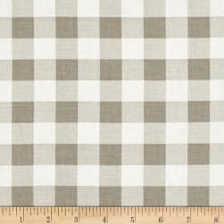 Premier Prints Plaid Ecru Twill Fabric