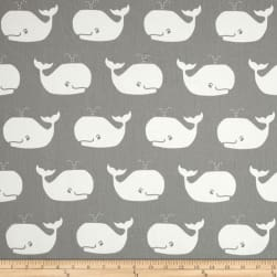 Premier Prints Whale Tales Twill Storm/White Fabric
