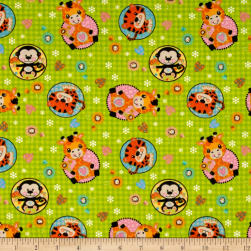 Flannel Stuffed Animal Circles Fabric