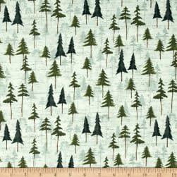 Wild Woods Tree's Sage Fabric