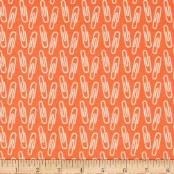 Type Paperclips Orange Fabric