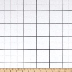 Kaufman Framework Flannel Gridwork White Fabric