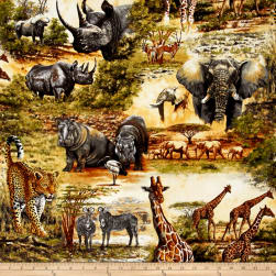 Kaufman Nature Studies Wild Animal Collage Wild