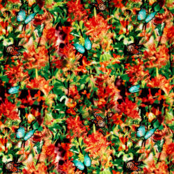 Judy Niemeyer Wildflowers Butterfly Garden Garden Fabric