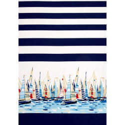 Michael Miller Regatta Single Border Marine Fabric