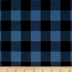 "Kaufman 1"" Carolina Gingham Indigo"