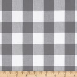 "Kaufman 1"" Carolina Gingham Grey"